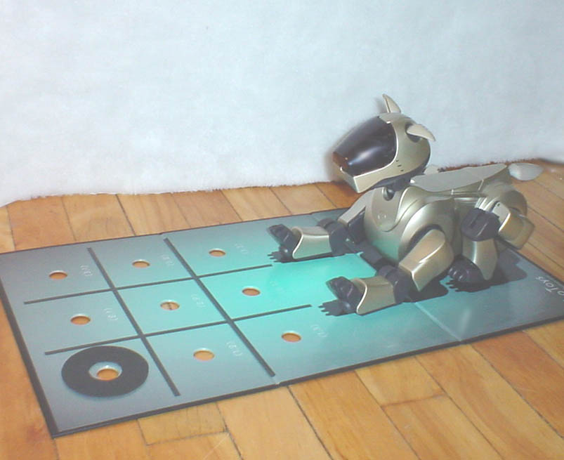 Aibo signalling its move with ears
